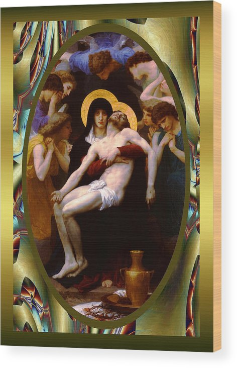 Wlliam-adolphe Bougereau Wood Print featuring the photograph Bougereau Vintage Jesus by Robert Kernodle