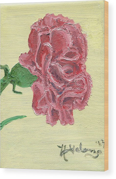 Carnation Wood Print featuring the painting Carnation by Nikolette Galenza