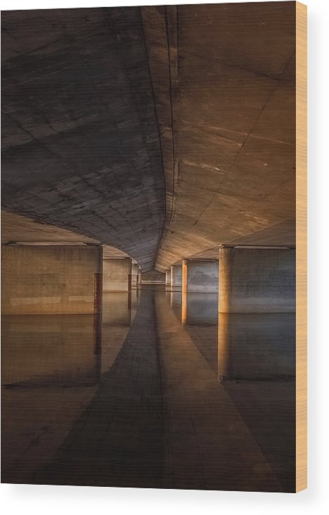 Reflection Wood Print featuring the photograph Depths by Kellianne Hutchinson