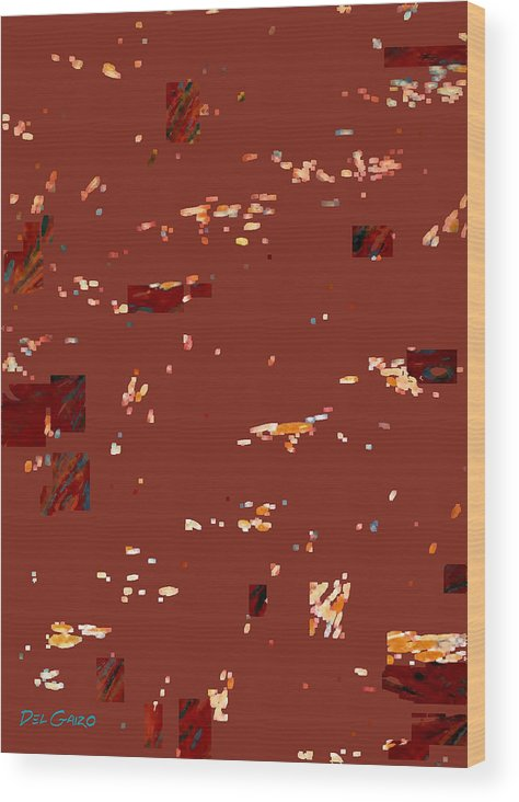 Abstract Wood Print featuring the drawing Brownie Camouflage Ghillie Suit by Del Gaizo