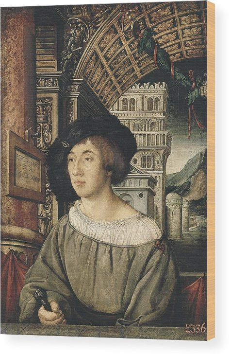 Vertical Wood Print featuring the photograph Holbein, Ambrosius 1494-1519. Portrait by Everett
