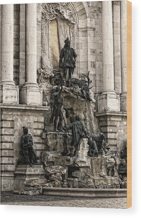 Black Wood Print featuring the digital art Hunting by Vitaly Kozlovtsev