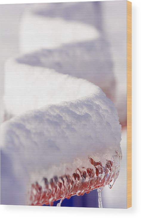 Ice Wood Print featuring the photograph Ice And Snow-5515 by Steve Somerville