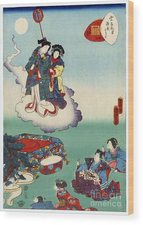 12th Century Wood Print featuring the photograph Japan: Tale Of Genji by Granger