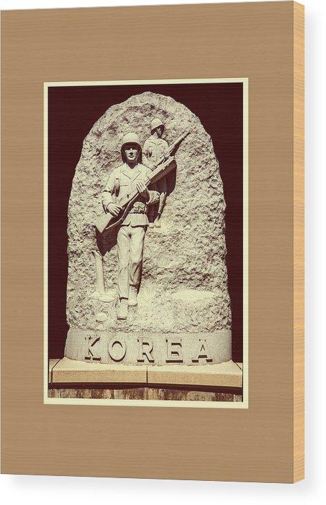 Korea Wood Print featuring the photograph Korea by Jim Markiewicz