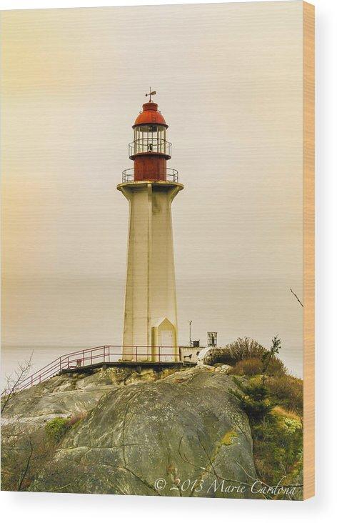 Wood Print featuring the photograph Lighthouse Park II by Marie Cardona