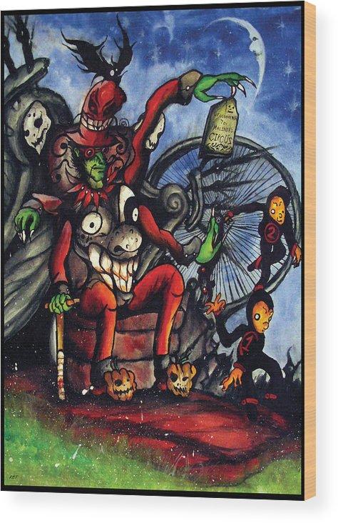 Richard Wood Print featuring the painting Malinda Circus by Richard Tyler