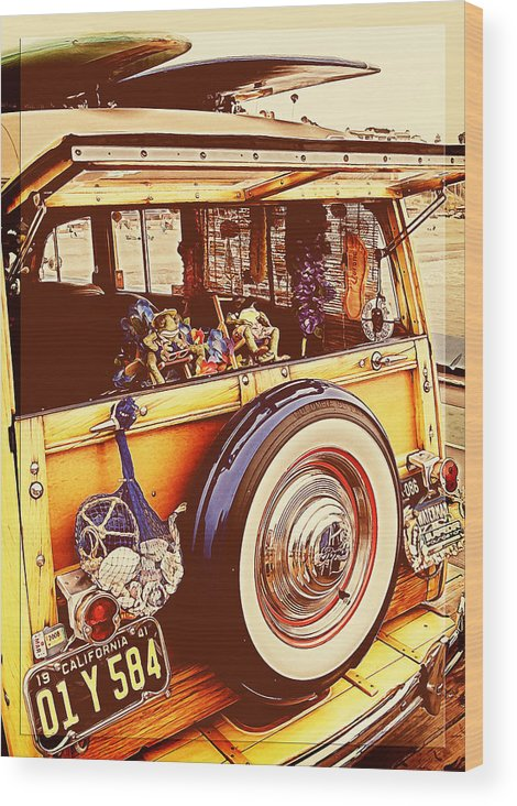 Ford Woodie Wood Print featuring the photograph Phil's Fabulous 41 by Ron Regalado