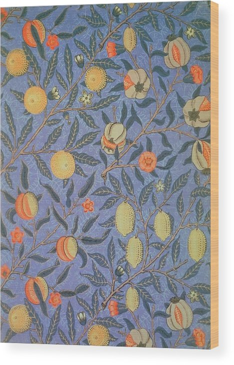 Artistic Wood Print featuring the painting Pomegranate by William Morris