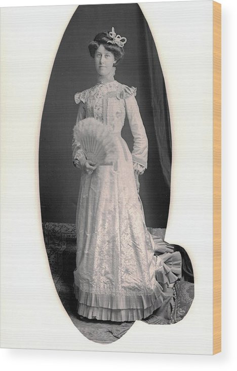 Vintage Portraits Wood Print featuring the photograph Real Class by William Haggart