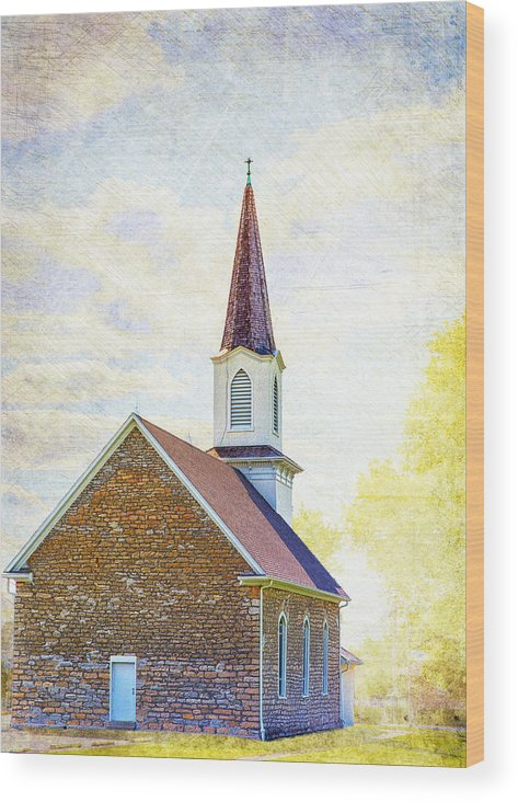 Church Wood Print featuring the photograph St Paul's Lutheran Church by Bill Tiepelman