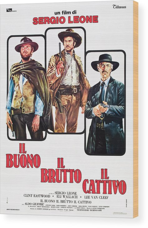 1960s Movies Wood Print featuring the photograph The Good, The Bad And The Ugly, Clint by Everett