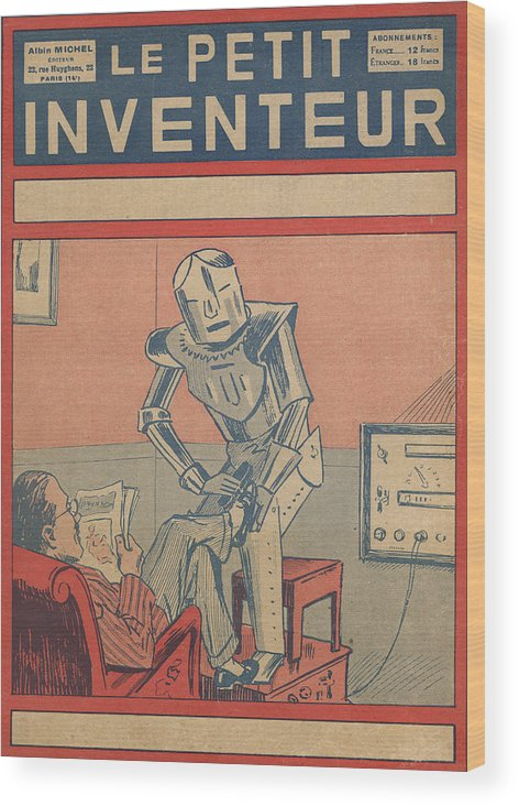 Science Wood Print featuring the drawing The Servant Of The Future -- A Robotic by Mary Evans Picture Library