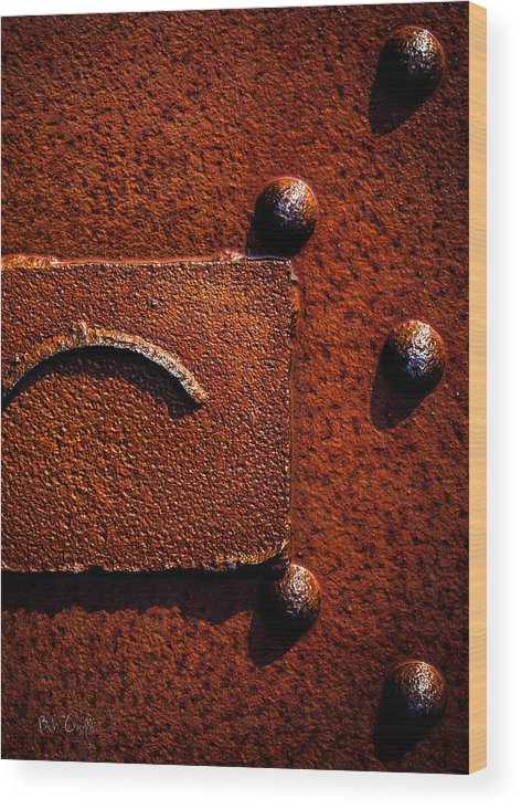 Abstract Wood Print featuring the photograph Wet Rust by Bob Orsillo