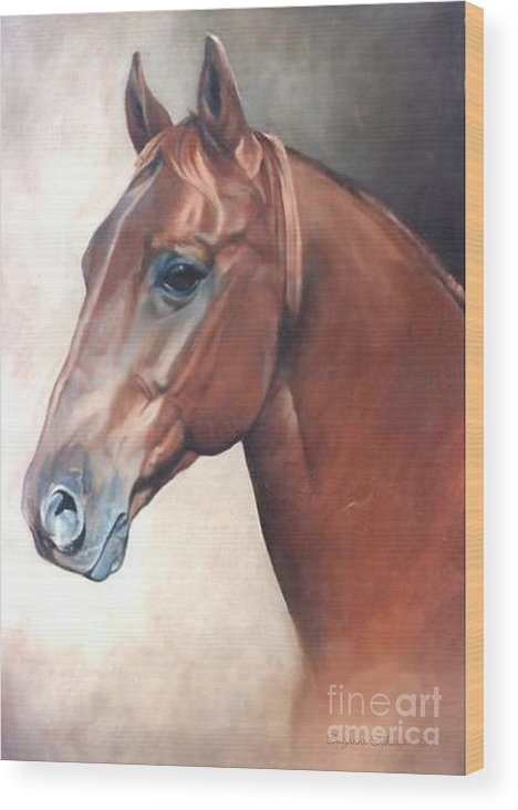 Horses Wood Print featuring the painting Winddancer by Suzanne Schaefer