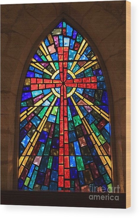 Window Wood Print featuring the photograph Window At The Little Church In La Villita by Carol Groenen