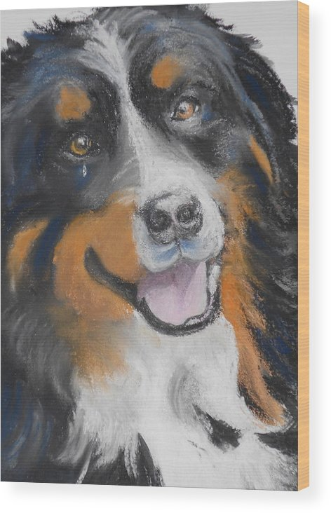 Dog Wood Print featuring the photograph Winnie by Susan Galassi