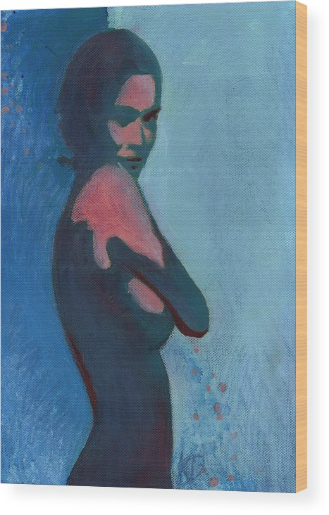 Without You Wood Print featuring the painting Without You by Dora Kecskemeti