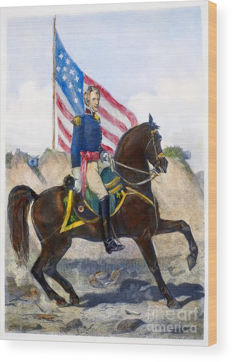 1815 Wood Print featuring the photograph Andrew Jackson (1767-1845) by Granger