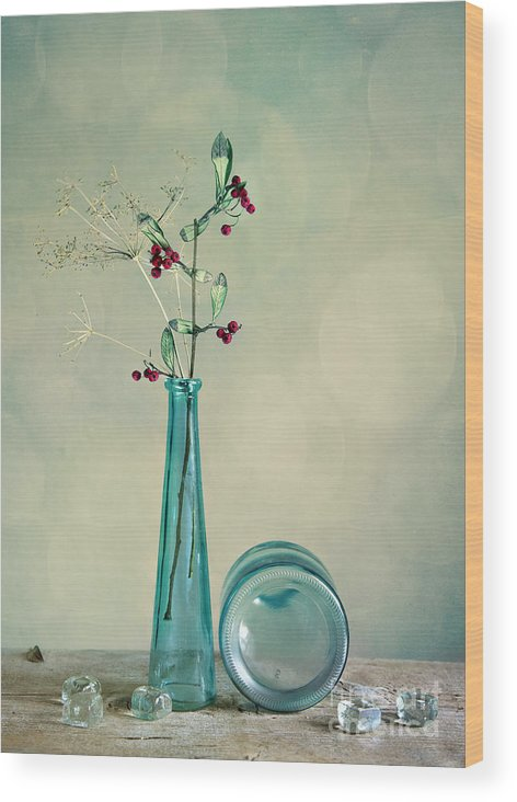 Glass Wood Print featuring the photograph Autumn Still Life by Nailia Schwarz