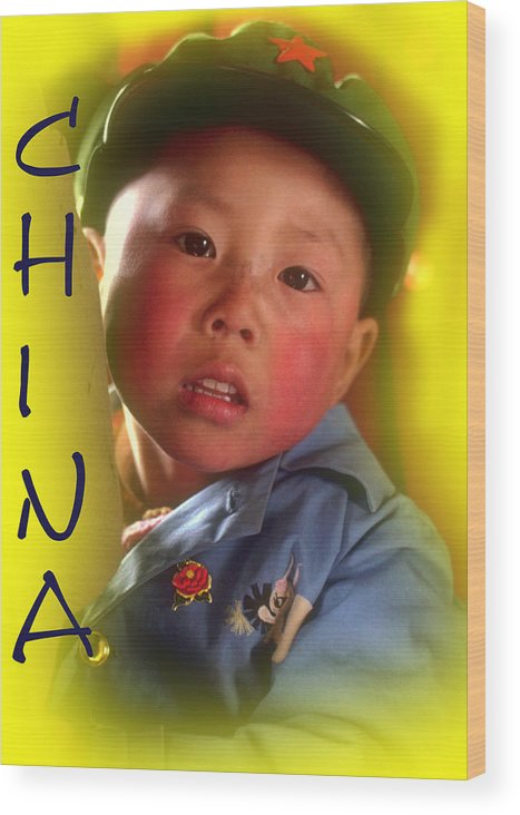 Chinese Boy Wood Print featuring the photograph Chinese Boy by Larry Mulvehill