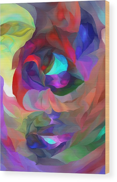 Fine Art Wood Print featuring the digital art Coming To Consciousness by David Lane
