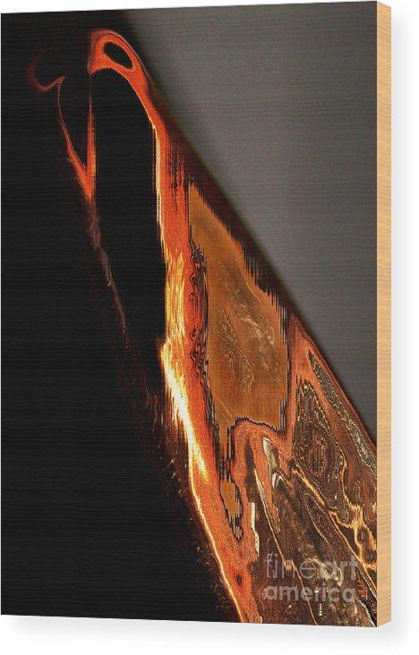 Birds Wood Print featuring the digital art Golden Vulture by Tom Hubbard