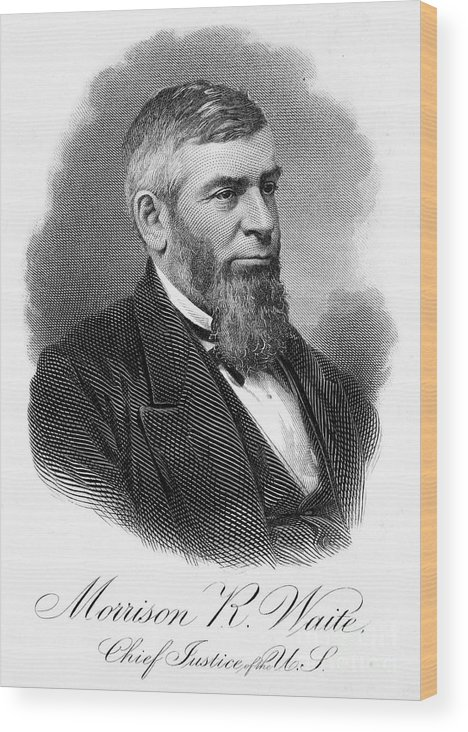 19th Century Wood Print featuring the photograph Morrison R. Waite (1816-1888) by Granger