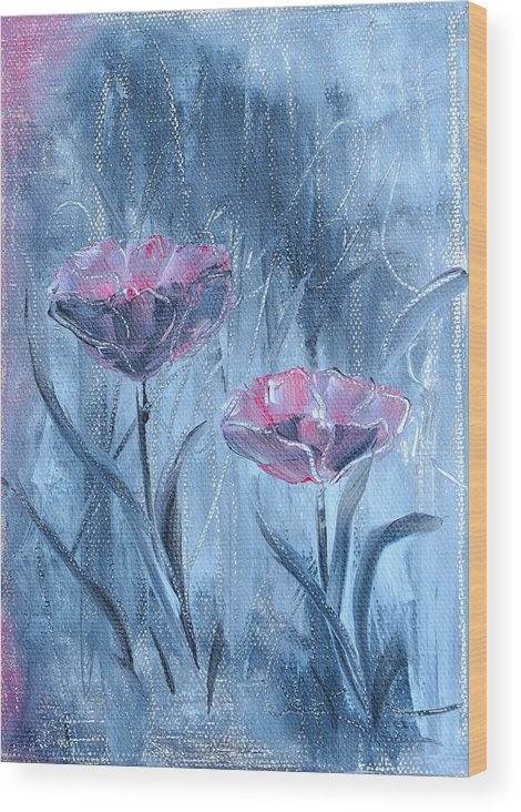 Acrylic Painting Wood Print featuring the painting Together by Renate Behr
