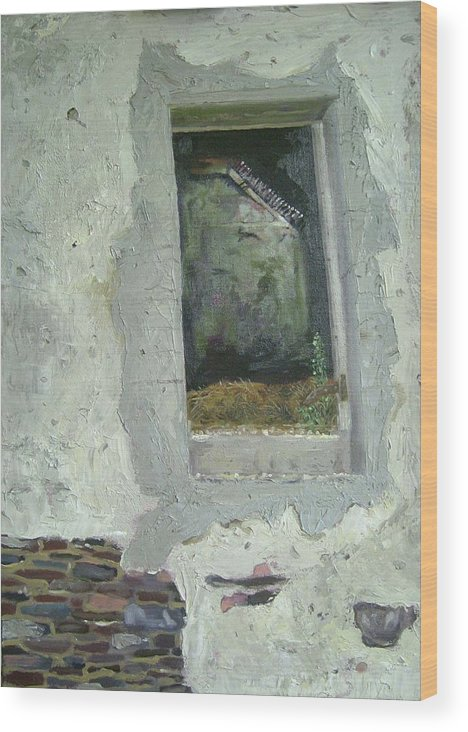 Nature Wood Print featuring the painting Looking Through 2 by Keith O Rahilly