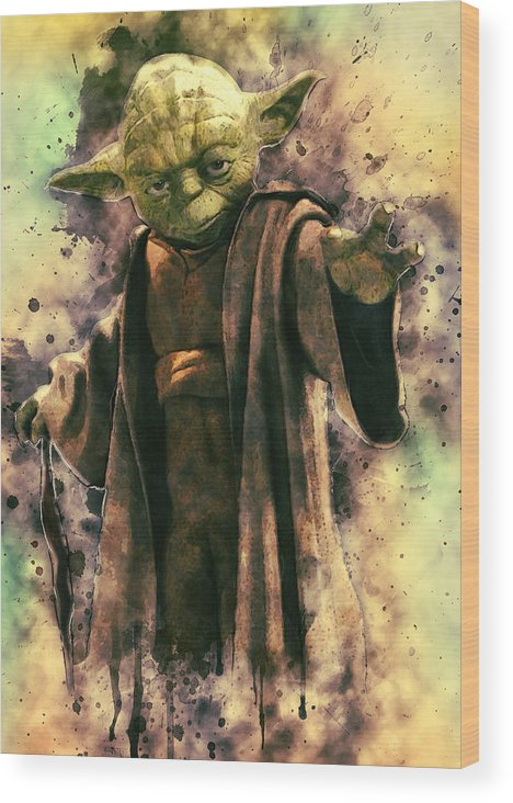 Yoda Wood Print featuring the digital art Yoda by Zapista Zapista