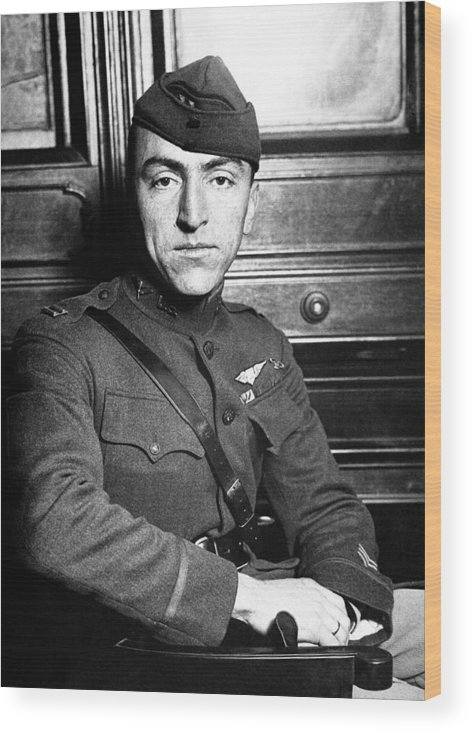 Eddie Rickenbacker Wood Print featuring the photograph Eddie Rickenbacker by War Is Hell Store