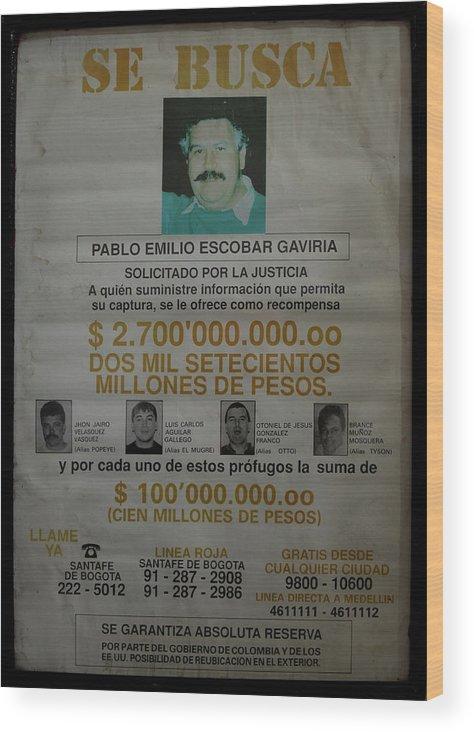 Bogota Wood Print featuring the digital art Bogota Museo Historico Policia by Carol Ailles