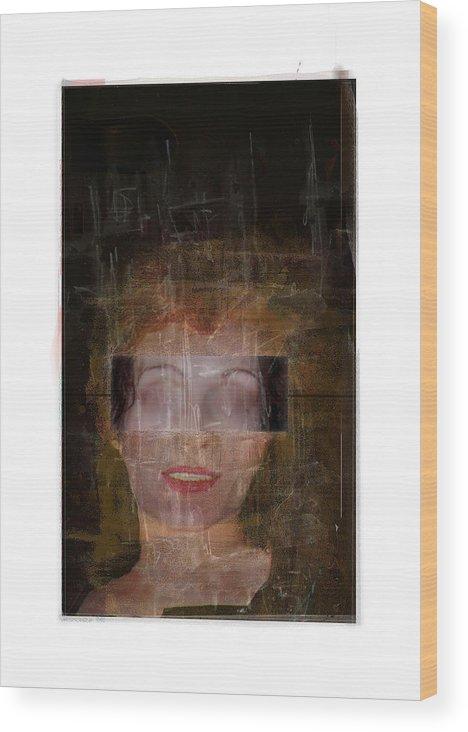 Portrait Wood Print featuring the digital art Ann Hos by Nuff