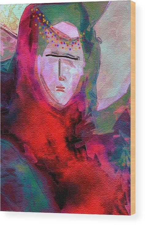 Princess Wood Print featuring the digital art Bedouin 4 by Mimo Krouzian