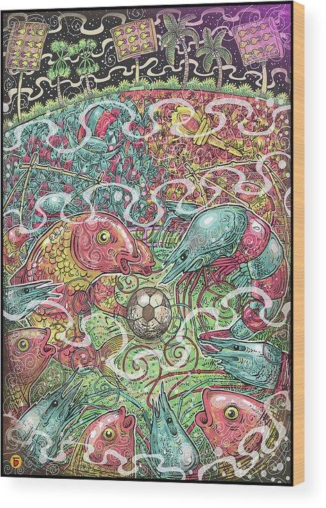 Eastbengal Wood Print featuring the digital art Bengal, Divided by Charbak Dipta