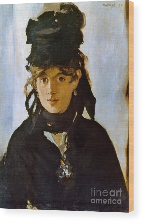 1872 Wood Print featuring the photograph Berthe Morisot (1841-1895) by Granger