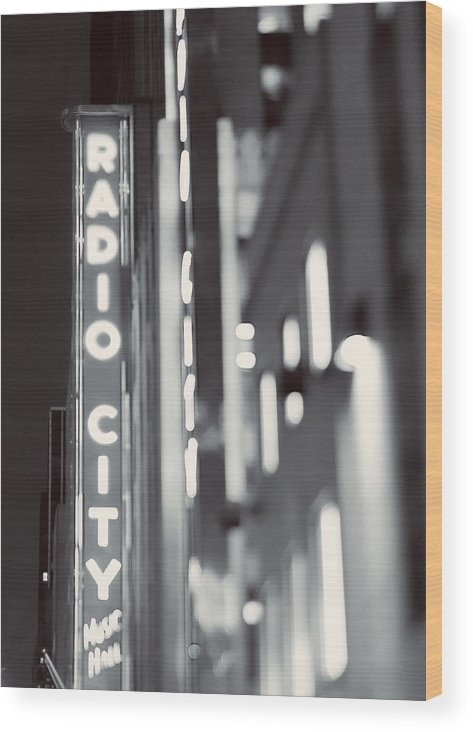 New York Wood Print featuring the photograph Bright Lights In The City by Debra Cox