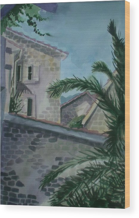 Montenegro Wood Print featuring the painting Budva Old Town by Aleksandra Buha