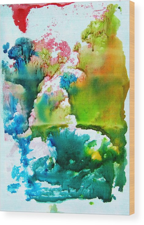 Corals Under The Water Wood Print featuring the painting Corals by Petra Olsakova