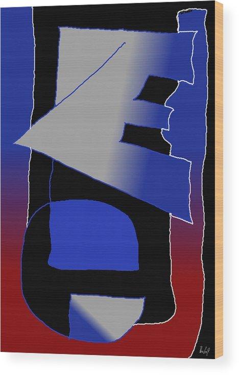 Eu Wood Print featuring the digital art E-likes-eu by Helmut Rottler