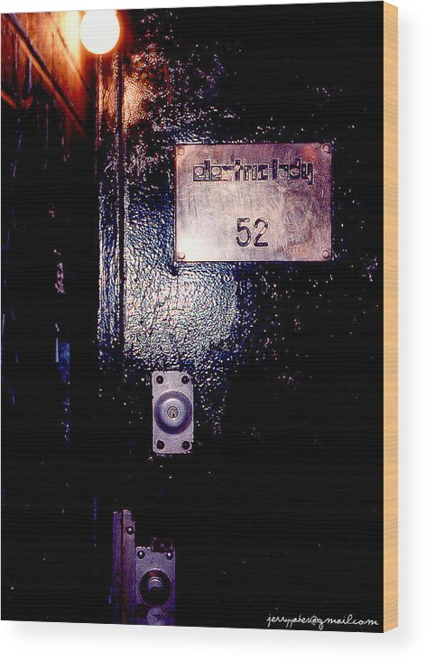 Door Wood Print featuring the photograph Electric Lady 52 by Gerard Yates