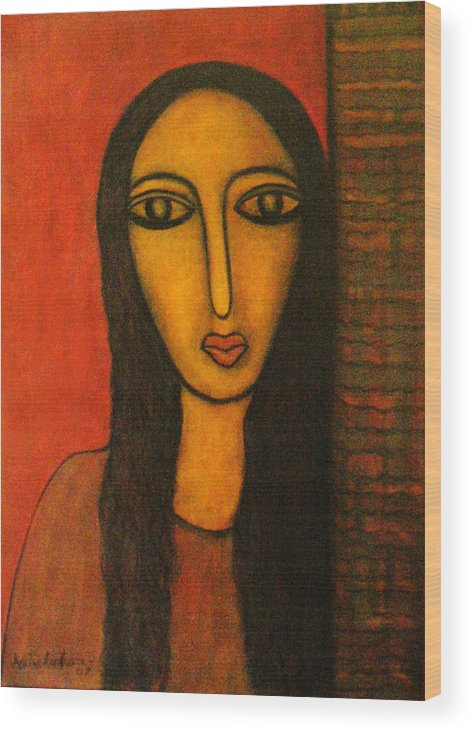 Painting Wood Print featuring the painting Exposure by Nabakishore Chanda