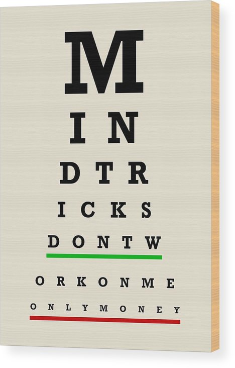 image about Eye Chart Printable called Eye Chart Wooden Print