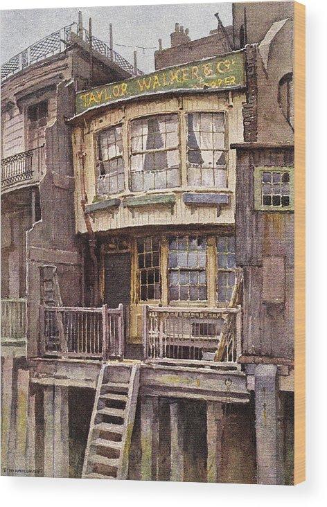 Vintage Wood Print featuring the digital art Fagin's Den by Sarah Vernon
