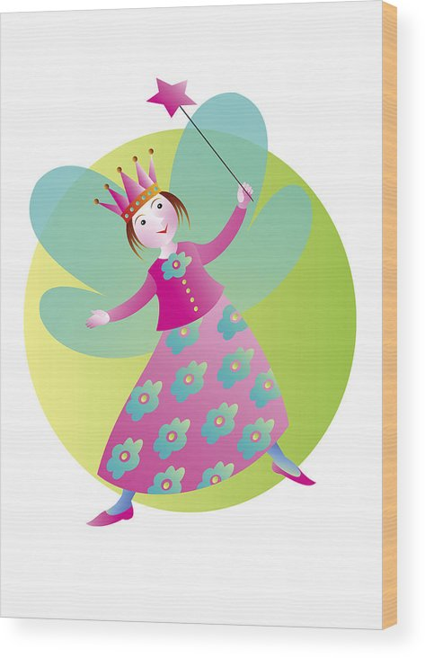 Fairy Tale Wood Print featuring the digital art Fairy 5 by Louise Methe