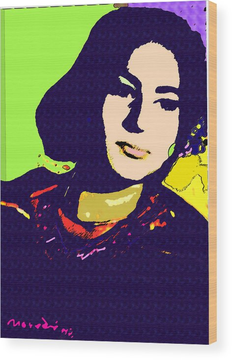 My Sister Wood Print featuring the mixed media Fatima by Noredin Morgan
