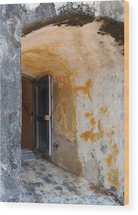 Fortress Wood Print featuring the photograph Fortress Window by Stephen Anderson