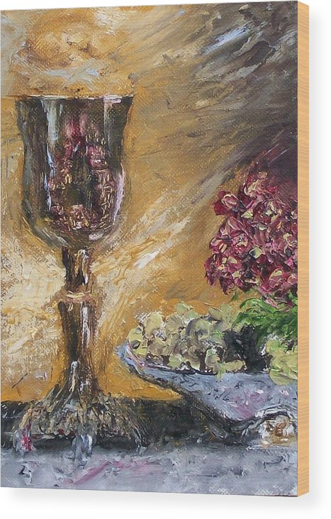 Wood Print featuring the painting Goblet by Stephen King