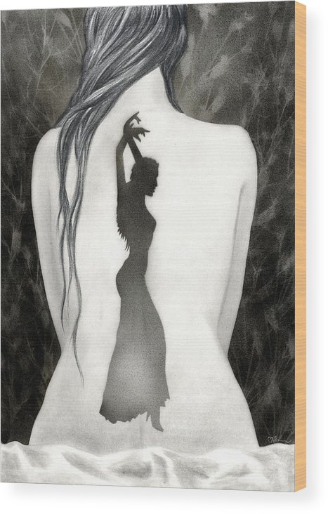 Dance Wood Print featuring the painting Invocation by Miko At The Love Art Shop